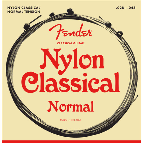 Fender 130 Nylon Ball End Classical Folk Guitar Strings, 073-0130-400 (073-0130-400)