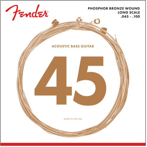 Fender 8060 Phosphor Bronze 4-String Acoustic Bass Guitar Strings, Long Scale