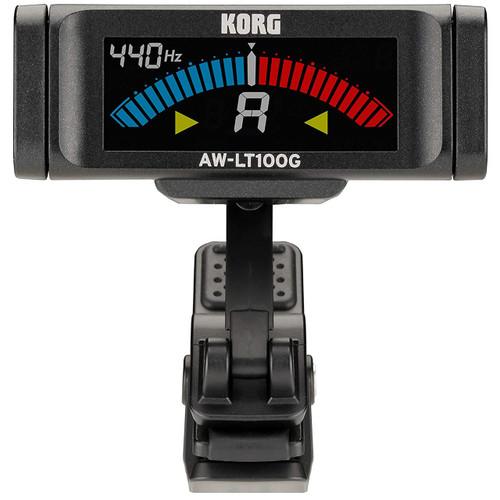 Korg AWLT100G Chromatic Clip-on Guitar Tuner, Black