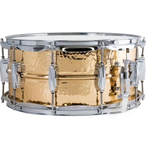 """Ludwig LB552K Bronze Phonic Snare Drum, Hammered Shell w/ Imperial Lugs, 6.5""""x14"""""""
