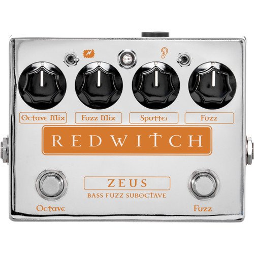 Red Witch Zeus Bass Fuzz Suboctave Effects Pedal