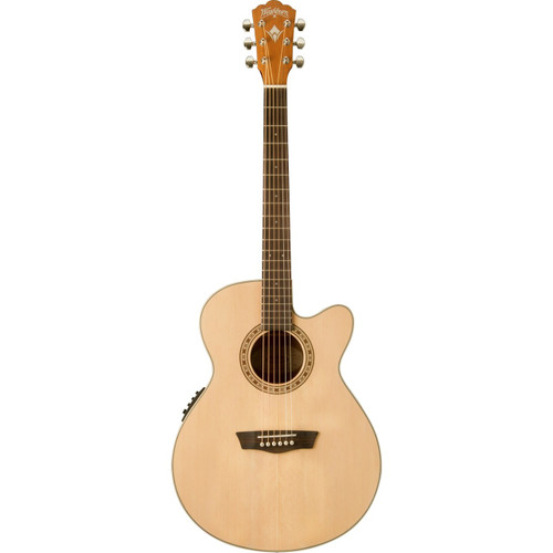 Washburn WG7SCE Harvest Series Grand Auditorium Acoustic Electric Guitar, Natural