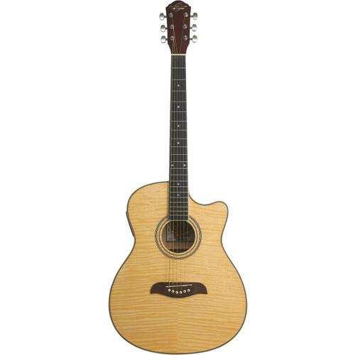 Oscar Schmidt OACEFN Auditorium Acoustic Electric Guitar, Natural (OACEFN)