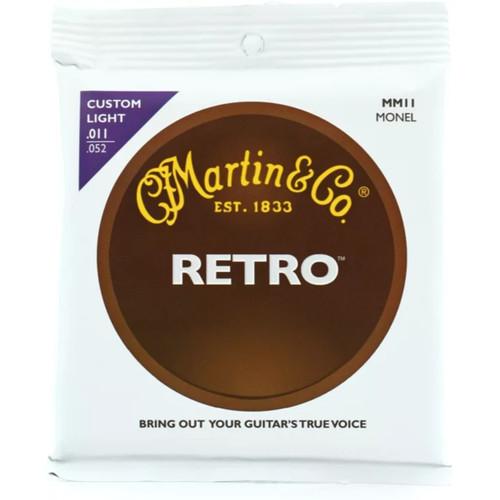 Martin MM11 Retro Monel Custom Light Acoustic Guitar Strings
