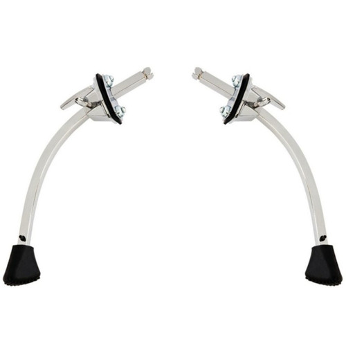 Ludwig LC1308SP Classic Curved Disappearing Bass Drum Spurs, Set of 2
