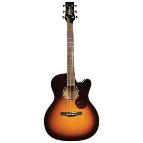 Jasmine JO37CE-SB Orchestra OM Body Acoustic Electric Guitar, Sunburst