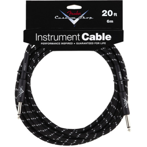 Fender Custom Shop 20' Black Tweed Instrument Cable (099-0820-052)