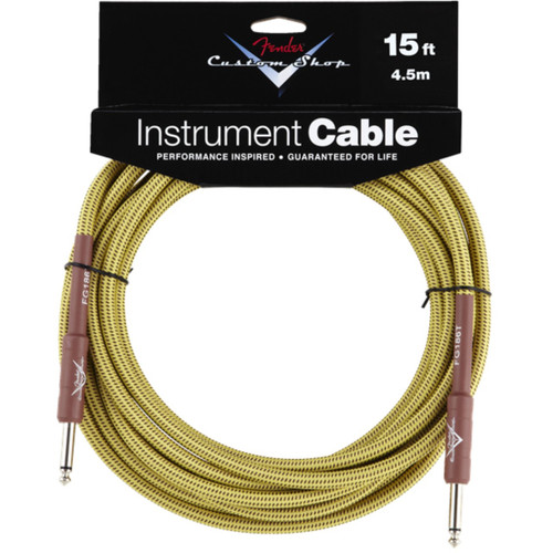 Fender Custom Shop 15' Tweed Instrument Cable (099-0820-049)