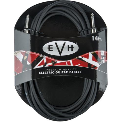 EVH Premium 14' Straight Guitar Cable, Black (022-0140-000)