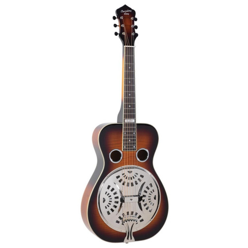 Recording King RR-75PL-SN Phil Leadbetter Signature Resonator Guitar, Flame Maple
