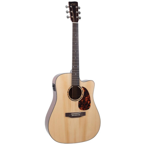 Recording King RD-G6-CFE5 G6 Series Dreadnought Cutaway Acoustic Electric Guitar, Natural