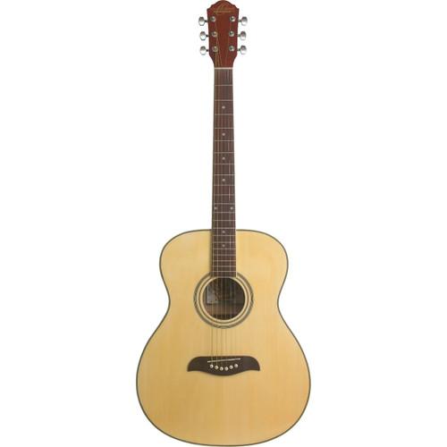 Oscar Schmidt OAN Auditorium Size Acoustic Guitar, Natural