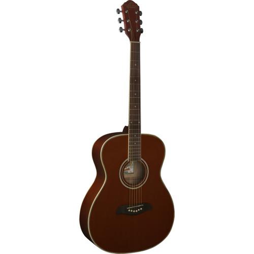Oscar Schmidt OAM Auditorium Size Acoustic Guitar, Mahogany