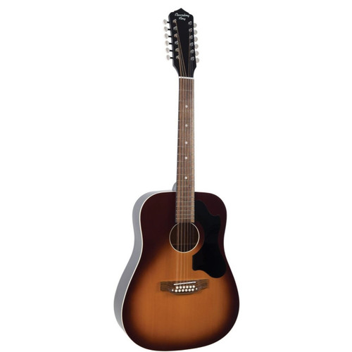 Recording King Dirty 30's 12-String Dreadnought Acoustic Guitar, Tobacco Sunburst