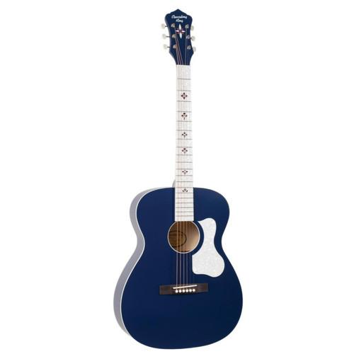 Recording King ROC-9-MBL Century33 Ltd Edition #2 Acoustic Guitar, Wabash Blue
