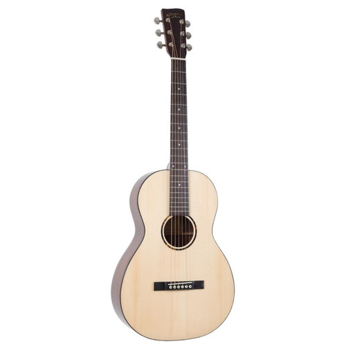 Recording King RP-G6 Solid Top Single-0 Body Acoustic Guitar, Natural