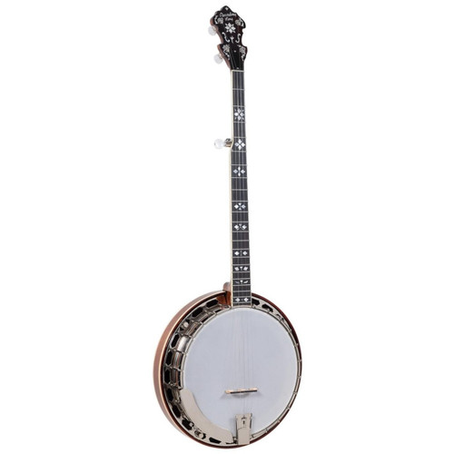 Recording King RK-ELITE-76 Hearts and Flowers Acoustic Resonator Banjo with Case