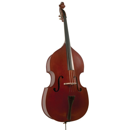 Palatino VB-004 Crack-Resistant Upright Bass with Padded Bag, 1/2 Size