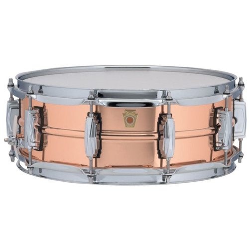 """Ludwig LC660 Copper Phonic 5""""x 14"""" Smooth Shell Snare Drum with Imperial Lugs"""