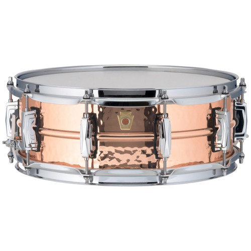 """Ludwig LC660K Copper Phonic 5""""x 14"""" Hammered Shell Snare Drum with Imperial Lugs"""