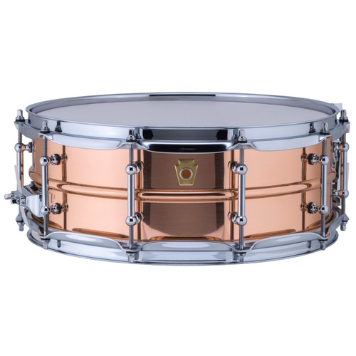 """Ludwig LC660T Copper Phonic 5""""x 14"""" Smooth Shell Snare Drum with Tube Lugs"""