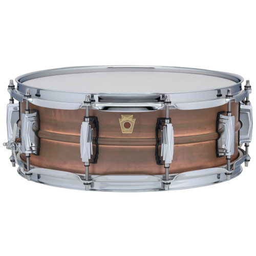 """Ludwig LC661 Copper Phonic 5""""x 14"""" Smooth Shell Snare Drum with Imperial Lugs, Raw Patina"""