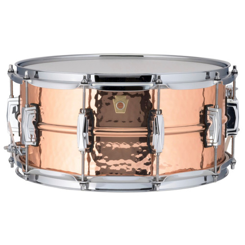 """Ludwig LC662K Copper Phonic 6.5""""x 14"""" Hammered Shell Snare Drum with Imperial Lugs"""