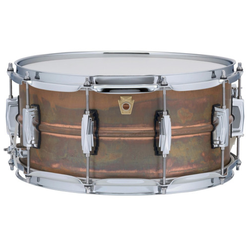 """Ludwig LC663 Copper Phonic 6.5""""x 14"""" Smooth Shell Snare Drum with Imperial Lugs, Raw Patina"""