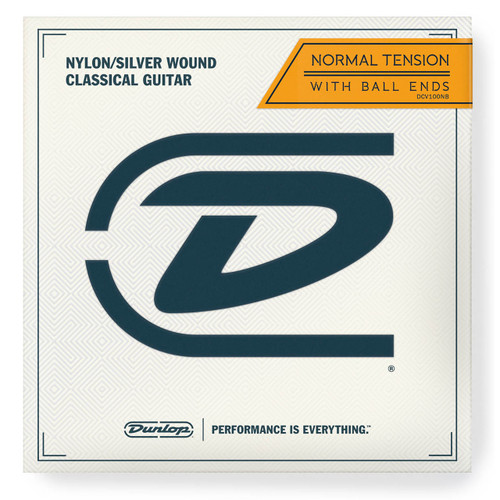 Dunlop DCV100NB Ball-End Classical Guitar Strings, Nylon/Silver Wound