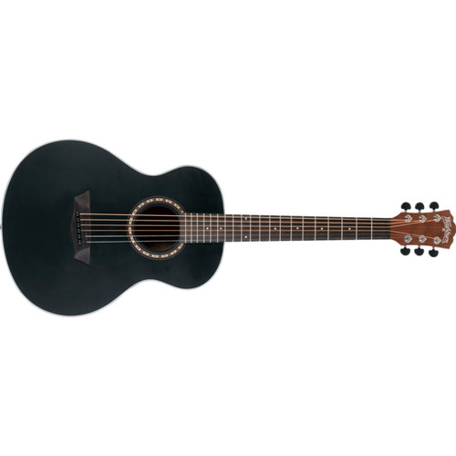Washburn AGM5BMK Apprentice G-Mini 5 Grand Auditorium Acoustic Travel Guitar w/ Gig Bag, Black Matte