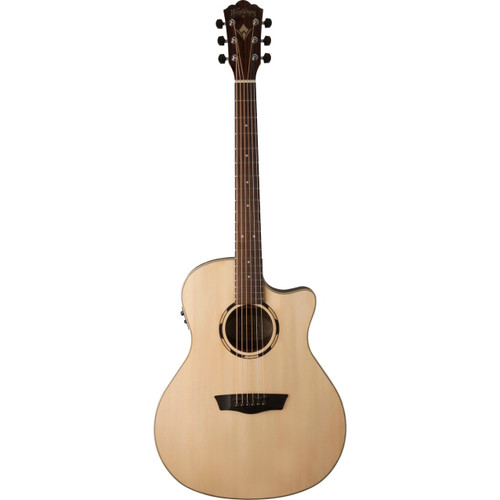 Washburn WLO20SCE Woodline Orchestra Body Acoustic Electric Guitar, Natural