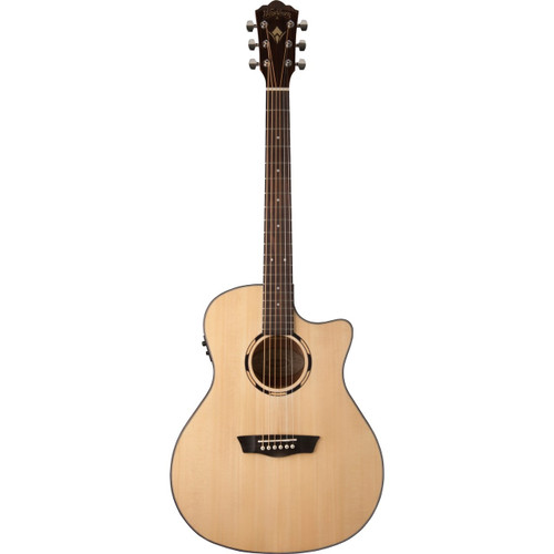 Washburn WLO10SCE Woodline Orchestra Acoustic Electric Guitar, Natural