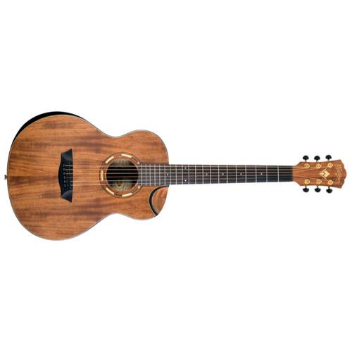 Washburn WCGM55K Comfort Series KOA Grand Auditorium Acoustic Guitar, Natural