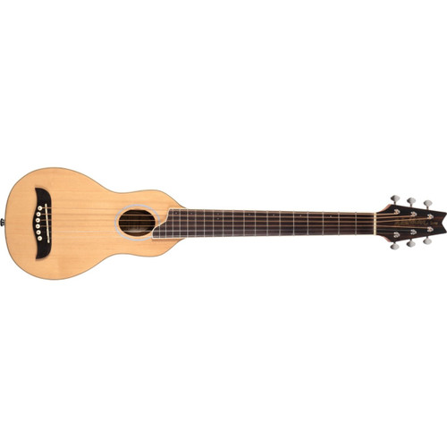Washburn Rover RO10SK Travel Acoustic Guitar with Gig Bag, Matte Natural