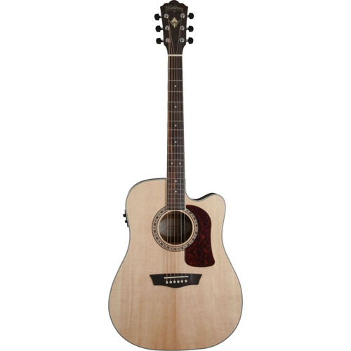 Washburn HD20SE Heritage 20 Series Dreadnought Acoustic Electric Guitar, Natural