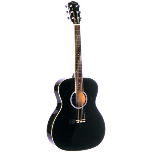 Johnson JG-420-B Songwriter Series 000-Style Acoustic Guitar, Black