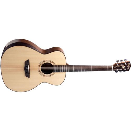 Washburn WCG10SENS Comfort Series Grand Auditorium Acoustic Electric Guitar, Natural (WCG10SENS-O-U)