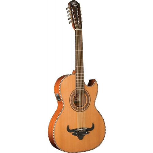 Oscar Schmidt OH22SE Thin Line Acoustic Electric 10-String Bajo Quinto Guitar with Gig Bag