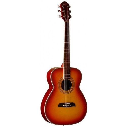 Oscar Schmidt OF2CS Folk Style Acoustic Guitar, Cherry Sunburst (OF2CS)
