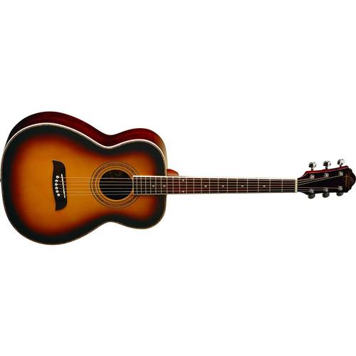 Oscar Schmidt OF2OTS Folk Style Acoustic Guitar, Tobacco Sunburst