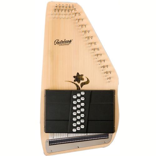 Oscar Schmidt OS45CE Appalachian 21-Chord Acoustic Electric Autoharp, Natural