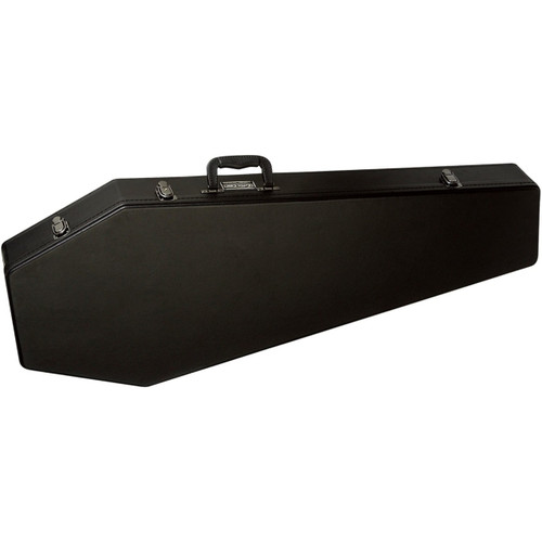 Coffin CF-G185BK Coffin Shaped Electric Guitar Case, Black Velvet Interior