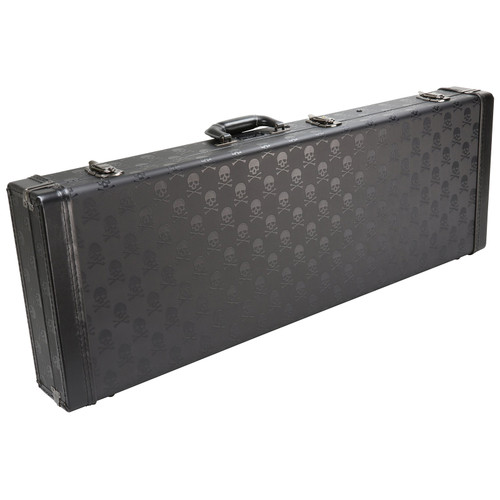 Coffin Case CF-SKULL900 Hardshell Electric Guitar Case, Black Velvet Interior