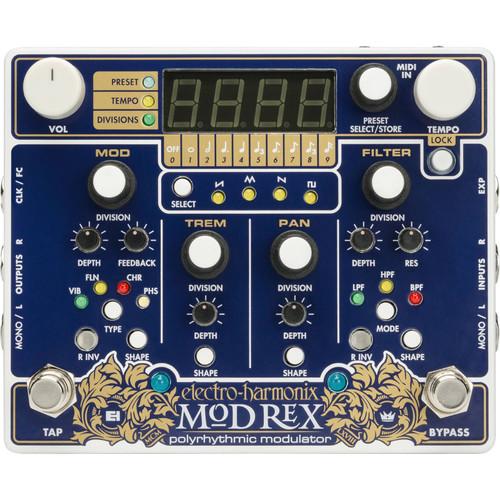 Electro-Harmonix MOD REX Polyrhythmic Modulator Effects Pedal