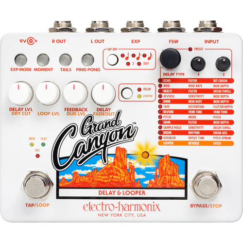 EHX Electro-Harmonix GRAND CANYON Delay and Looper Effects Pedal