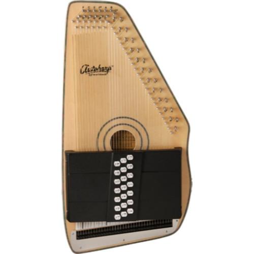 Oscar Schmidt OS120CNE 21-Chord Adirondack Acoustic Electric Autoharp, Natural