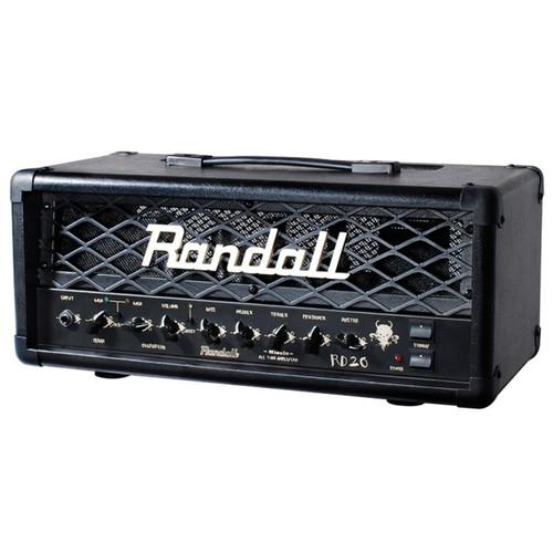 Randall RD20H Diavlo Series 20 Watt Tube Guitar Amplifier Head, Black