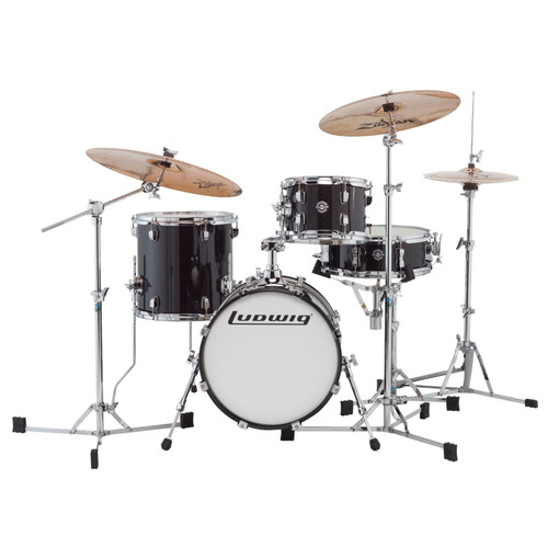 Ludwig LC179XX016 Breakbeats by Questlove 4-Piece Drum Shell Pack, Black Sparkle