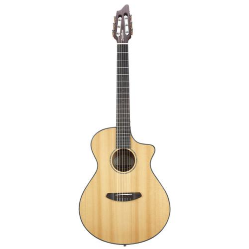 Breedlove Pursuit Concert CE Nylon String Acoustic Electric Guitar, Natural