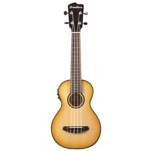 Breedlove Lu'au Concert Size Acoustic Electric Ukulele, Natural Shadow
